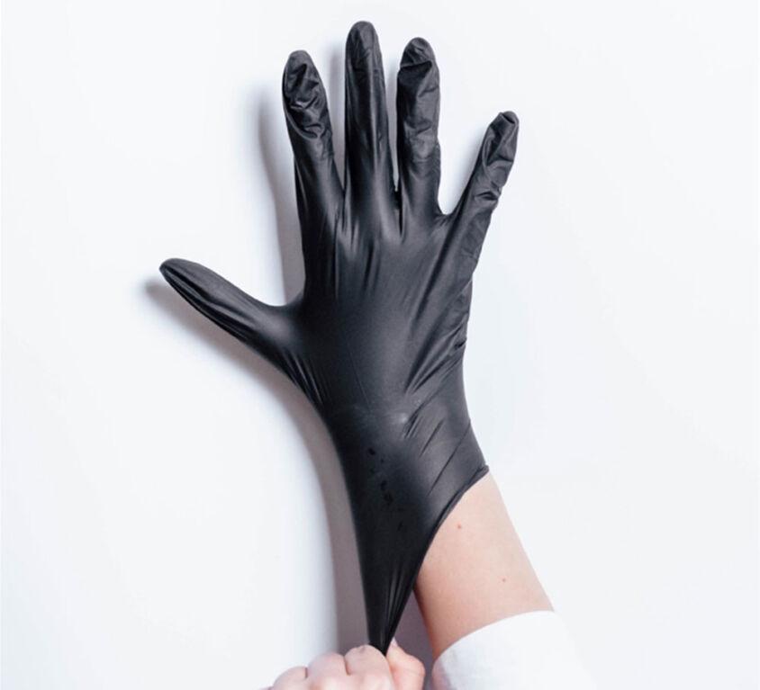 Γάντια Νιτριλίου 100 τεμ. χωρίς Πούδρα Μαύρα