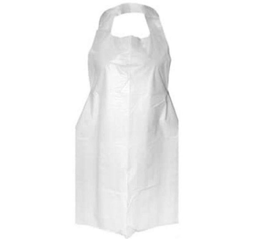 Ποδιά Λευκή Πλαστική Μίας Χρήσεως 100 τεμ. 800×1200