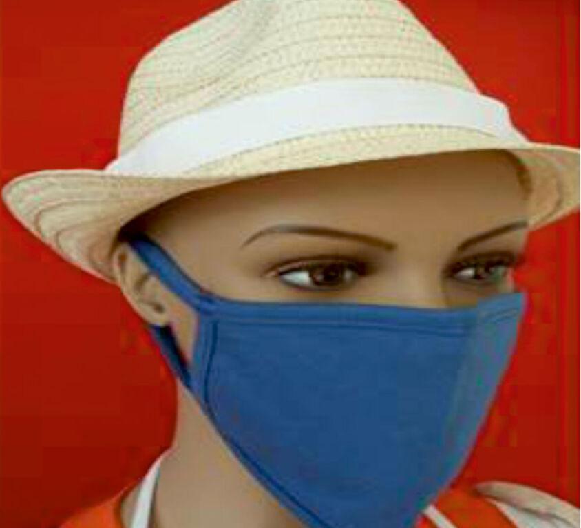 Μάσκα Προσώπου 100% Βαμβακερή, Πλενόμενη, Πολλαπλών Χρήσεων, Μπλε Τεμάχιο